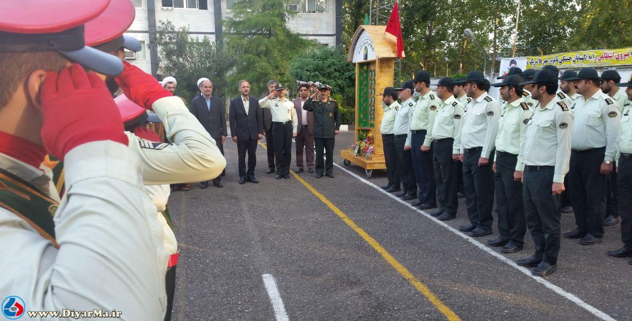 به مناسبت هفته ناجا صبحگاه مشترک نیروهای نظامی و انتظامی شهرستان آستانهاشرفیه برگزار شد.