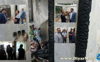 دلجویی مسئولان آستانهاشرفیه از آسیب دیدگان آتشسوزی خیابان فتح المبین